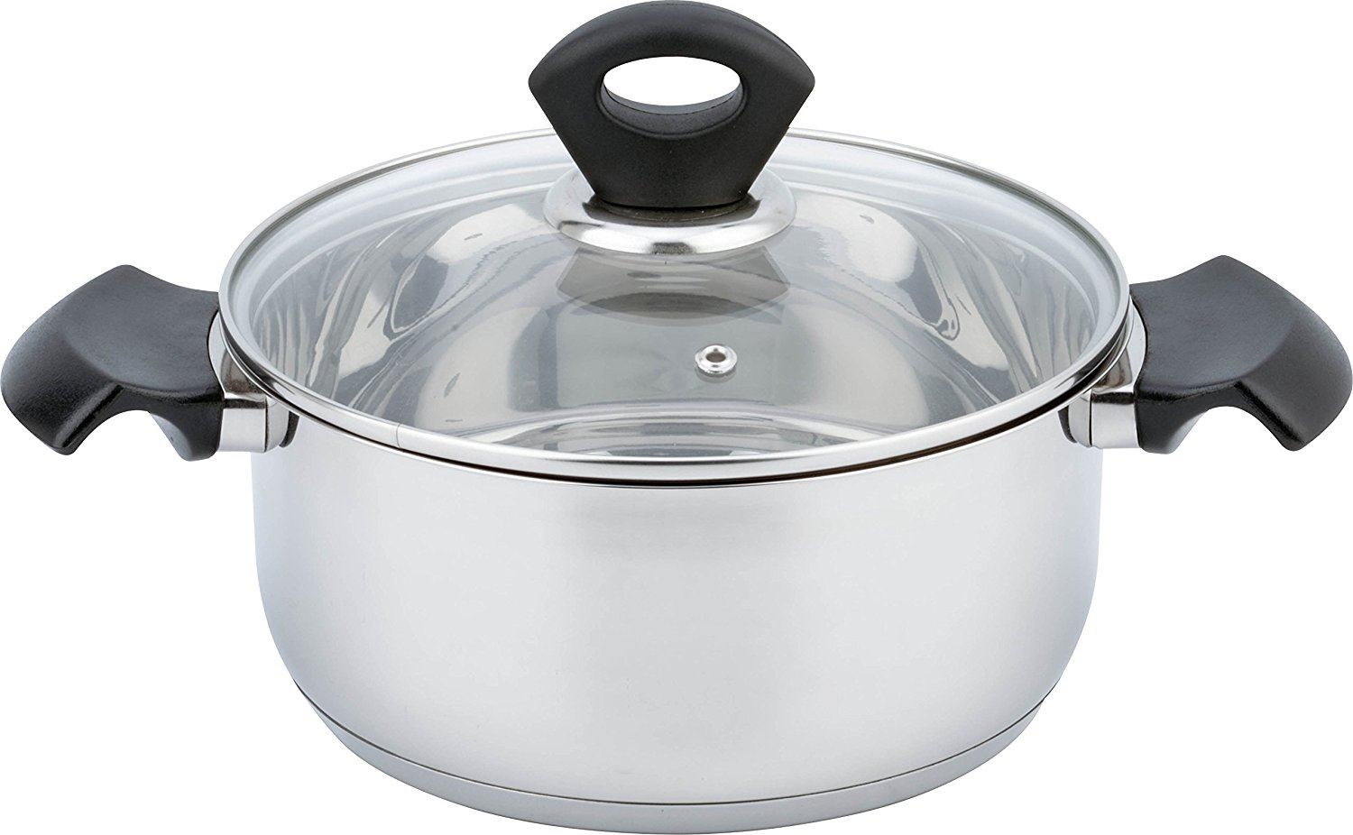 All For You Mirror Polish Stainless Steel Kitchen Induction Cookware Casserole with G Type Shock Resistant... by All For You Home