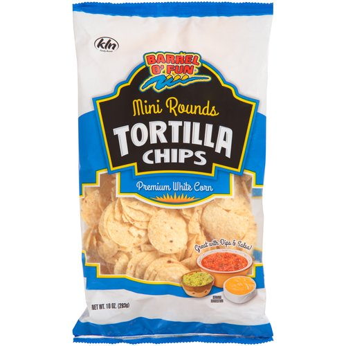 Barrel O' Fun Mini Rounds Tortilla Chips, 10 Oz.