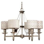 Felicia Strass 6-Light Chandelier in Brushed Steel Finish (Confetti)