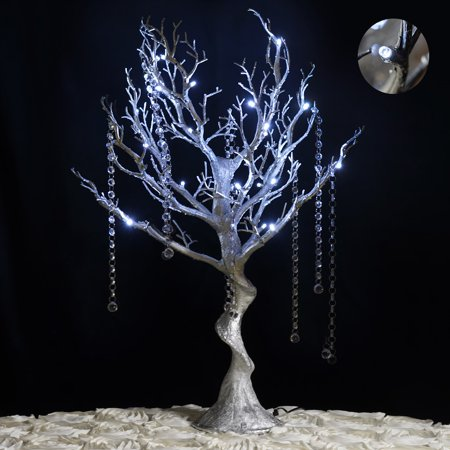 BalsaCircle 30 inch Glittered Manzanita Tree with LED Lights - Wedding Party DIY Centerpieces Decorations Supplies](Tree Wedding Centerpieces)