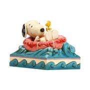 Enesco Peanuts by Jim Shore Snoopy and Woodstock in Floatie