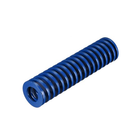 20mm OD 80mm Long Spiral Stamping Light Load Compression Mould Die Spring Blue 1Pcs - image 2 de 2