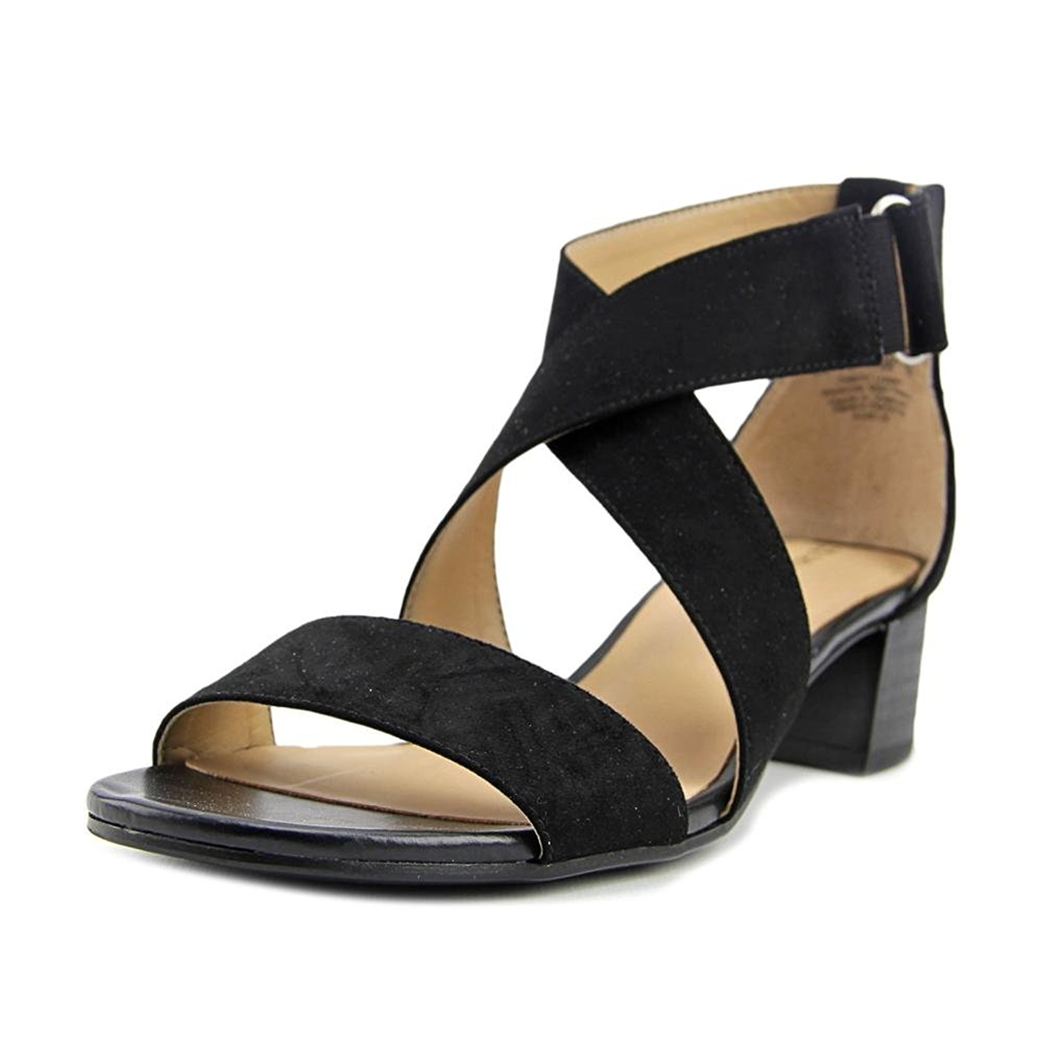 Naturalizer Womens Adele Fabric Open Toe Casual Ankle Strap Sandals by Naturalizer