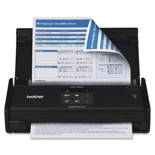 Brother ADS-1000W Sheetfed Scanner - 600 dpi Optical - 30-bit Color - 8-bit Grayscale - 16 - 16 - USB