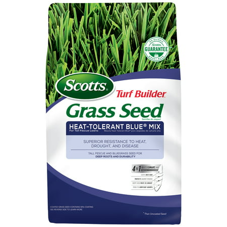 Scotts Turf Builder Grass Seed Heat-Tolerant Blue Mix For Tall Fescue Lawns, 7 lbs, Seeds up to 1,750 sq. ft.