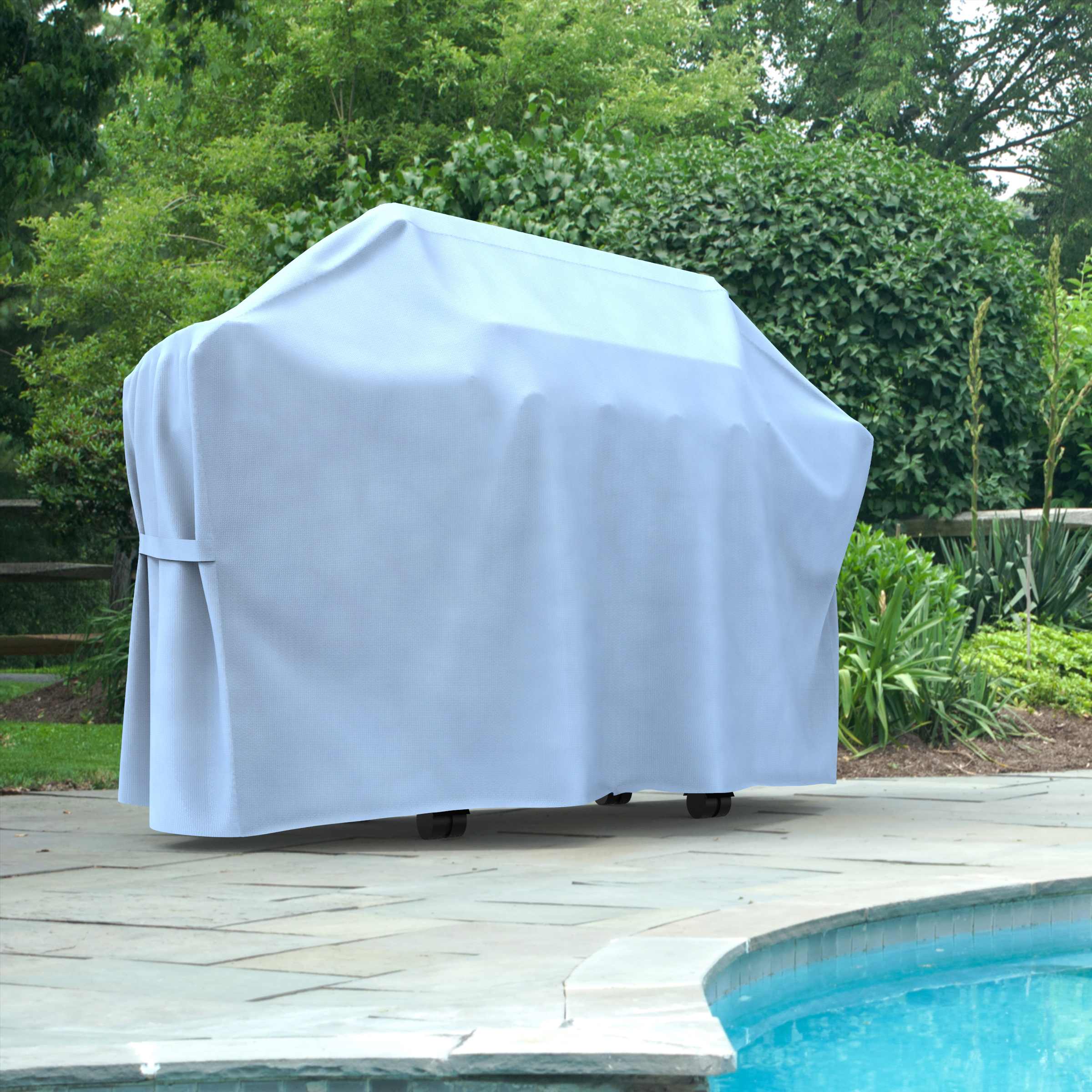 Budge Medium Blue Patio Outdoor BBQ Grill Cover, All-Seasons