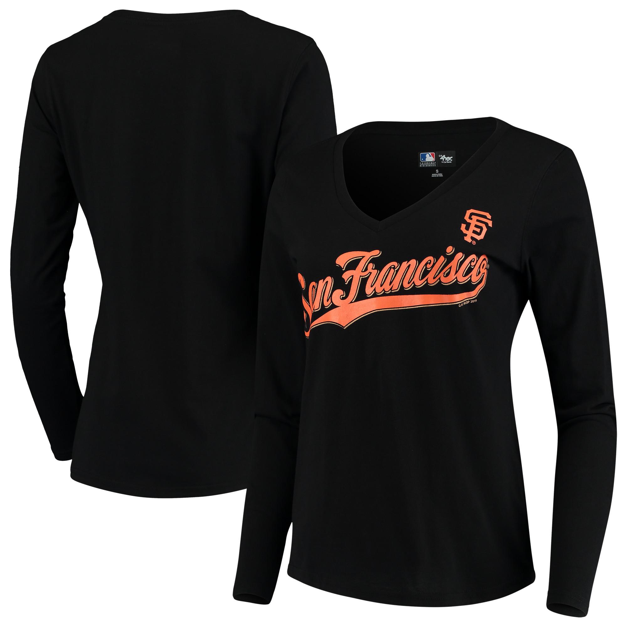 San Francisco Giants G-III 4Her by Carl Banks Women's Post Season Long Sleeve T-Shirt - Black