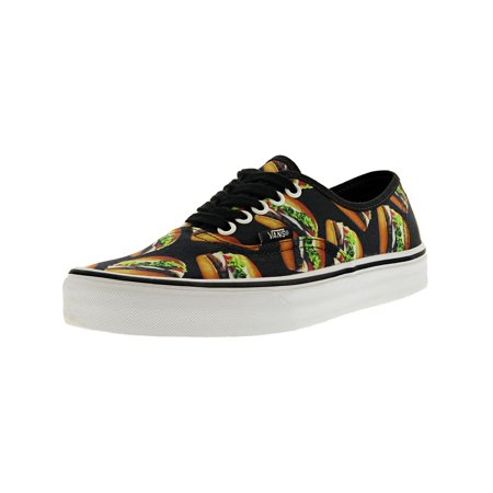 7804fabdff Vans Authentic Late Night Black Hamburgers Ankle-High Canvas Skateboarding  Shoe - 8M   6.5M - Walmart.com