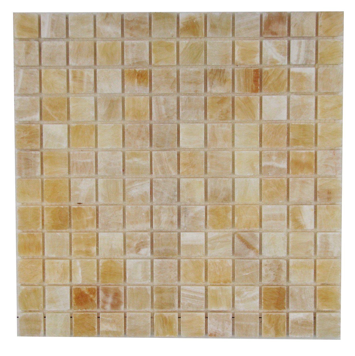 "Honey Onyx Mosaic Tile 1"" X 1"""