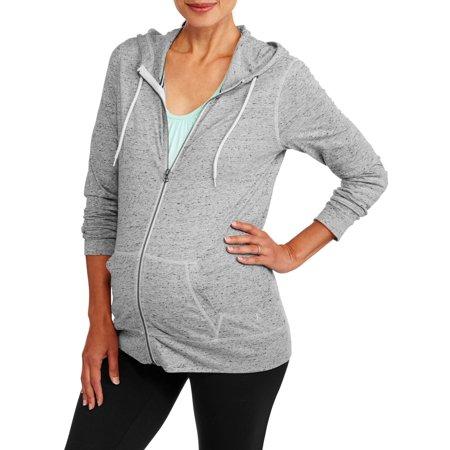 86b82a641c2 Danskin Now - Danskin Now Maternity Zip-Up Hoodie - Walmart.com