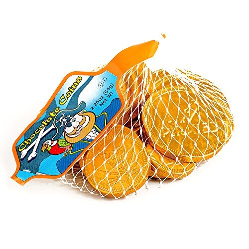 Steenland Mesh Bag of Chocolate Pirate Coins 4 oz each (4...