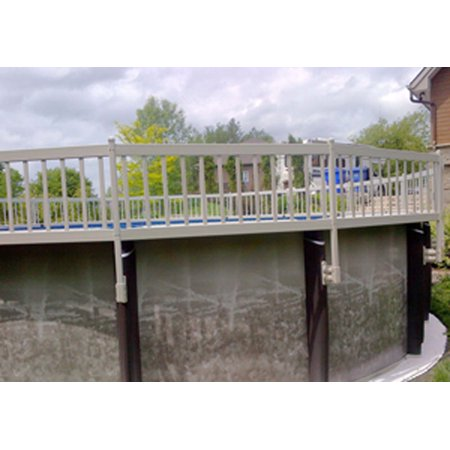 Image of 24- Inch Taupe Premium Vinyl Works Resin Above-Ground Pool Fence Kit B - 3 Sections
