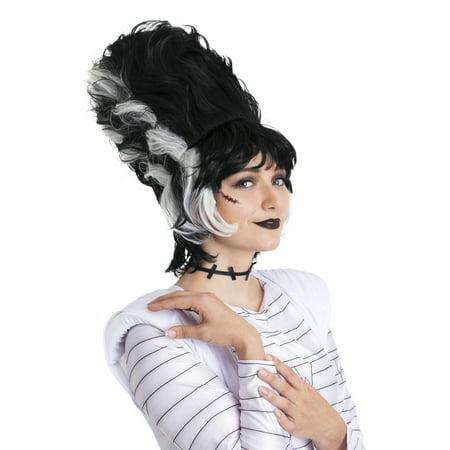 Monster Bride Wig Adult Halloween Costume Accessory](Bride Of Frankenstein Halloween Costume Wig)