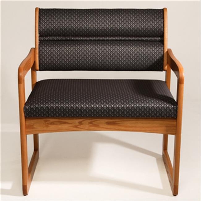 Wooden Mallet DWBA1-1DLOAW Valley Bariatric Guest Chair in Light Oak - Arch Wine
