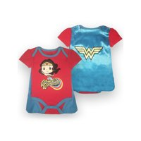 Wonder Woman Bodysuit and Cape Set (Baby Girls)