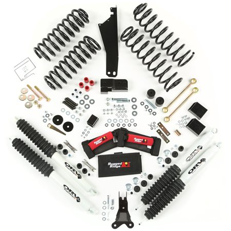 Rugged Ridge 2.5 Inch Lift Kit with Shocks; 07-16 Jeep Wrangler JK