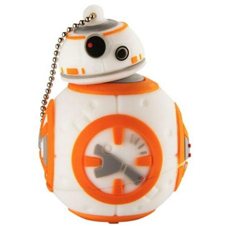 8 GB Star Wars BB-8 Sculpted USB Flashdrive Memory Stick with Keychain  (LYU-08B7.FXV6) (Keychain Memory Stick)