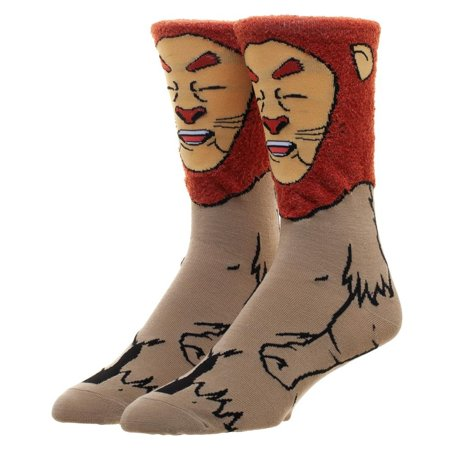 Crew Socks - Cowardly Lion - 360 Character New Licensed cr760cwiz