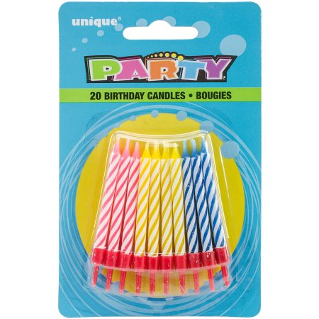 (6 Pack) Birthday Candles and Holders, Assorted, 20ct