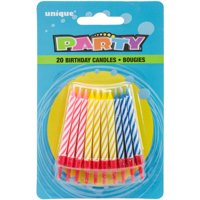 Product Image 6 Pack Birthday Candles And Holders Assorted 20ct