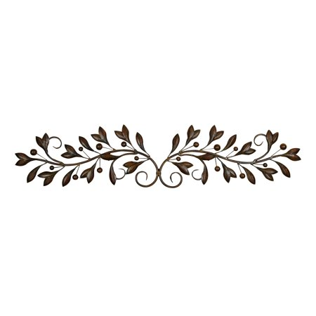 Scroll Cast Wall (Metal Wall Decor With Round Scroll Frame )