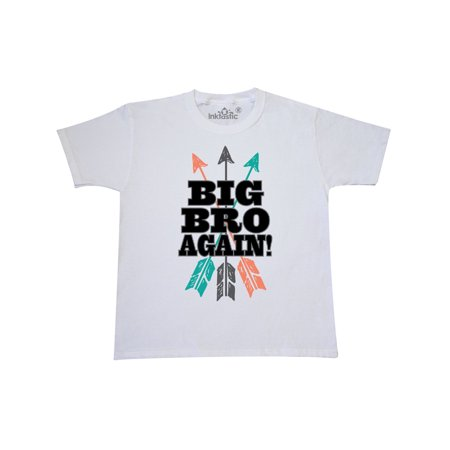 Big Bro Again Tribal Arrow Brother Announcement Youth T-Shirt