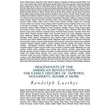 Descendants Of The American Revolution  The Family History Of Dowden  Dougherty  Roork   More