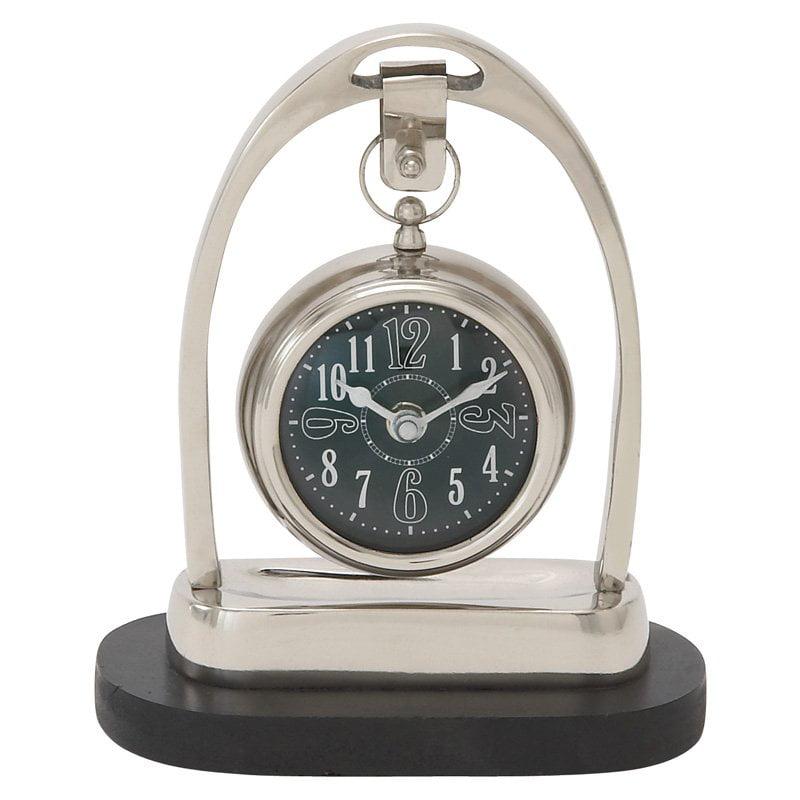 40682 Metal Table Clock by Benzara