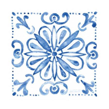 Tile Stencil IV Blue Print Wall Art By Anne Tavoletti](Stencil Wall Art)