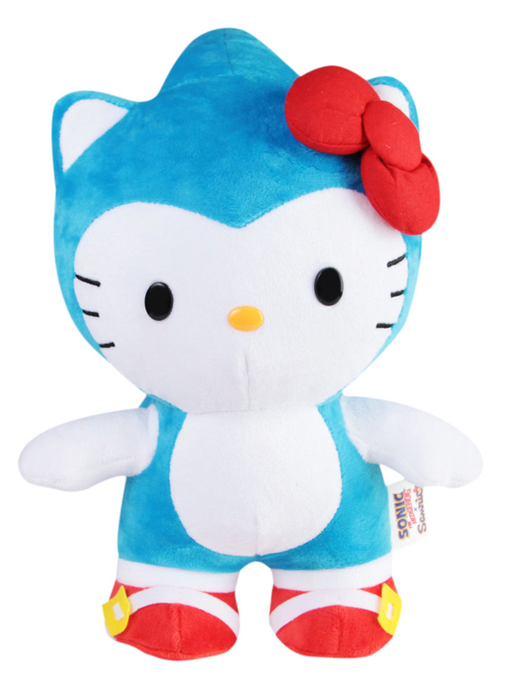 "Sonic x Sanrio 10"" Plush: Blue Sonic x Hello Kitty by Toynami, Inc."
