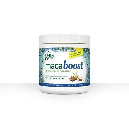Gaia Herbs Maca Boost Powder  Vanilla Chai  8 Oz