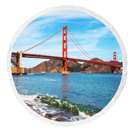 Gckg Ocean Seascape Beach Towel Golden Gate Bridge In San Francisco California Usa
