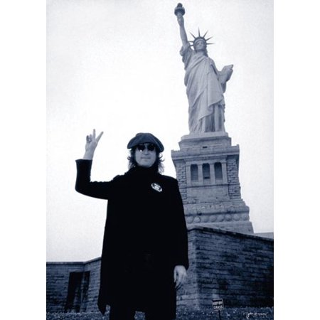 John Lennon Poster - Statue Of Liberty - New 24x36 (Statue Of Liberty Stencil)