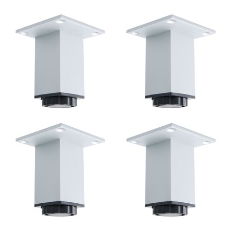 3 Inch Furniture Legs Aluminium Alloy Sofa Table Cabinet Wardrobe Shelves Leg Feet Replacement Adjust Height