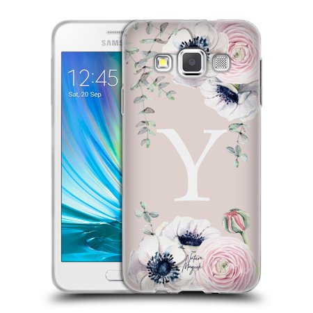 OFFICIAL NATURE MAGICK FLORAL MONOGRAM PINK FLOWERS 2 SOFT GEL CASE FOR SAMSUNG PHONES 2