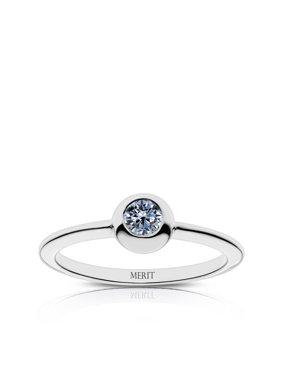 Purple Heart Merit Engraved White Sapphire Ring