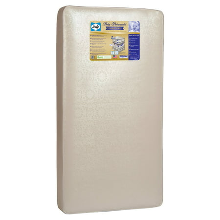 Sealy Posturepedic Crown Jewel Crib and Toddler Mattress, Premium 220 Orthopedic Coils