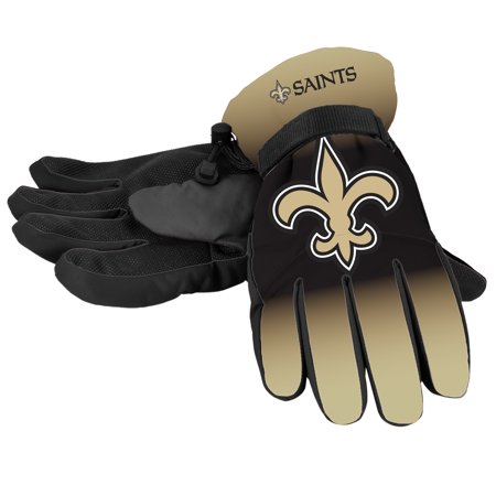 - Forever Collectibles - NFL Gradient Big Logo Insulated Gloves-Small/Medium, New Orleans Saints