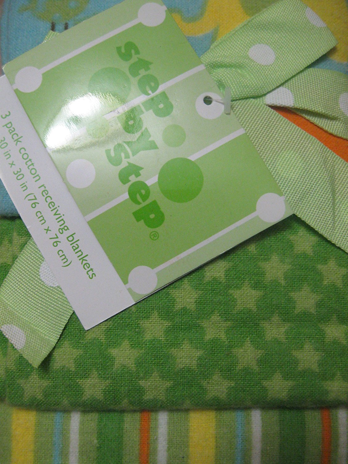 Step By Step 3 Pack Receiving Blankets Stars, Stripes and Safari Themes by Pem-America%2C Inc.