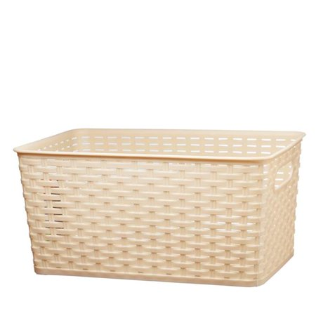 Nua Gifts 426 - LB Big Rattan Storage Basket  15.88 x 10 x 7.5 in. - Light Brown - image 1 of 1