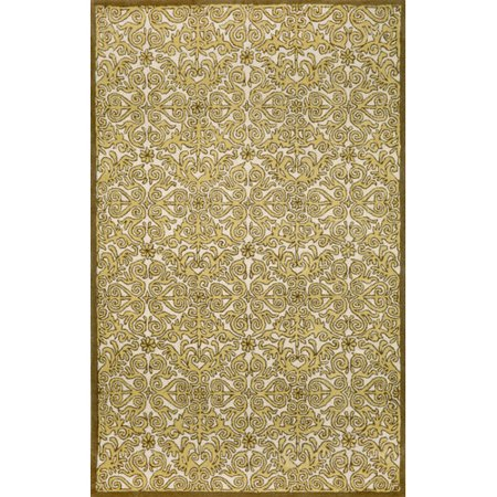 Liora Manne Antigua Yellow Scroll Area Rug