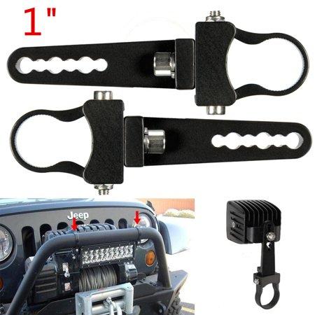 2X 1 Inch LED Light Bar klammern Roll Mount Bracket Clamps Holder For Off Road UTV ()