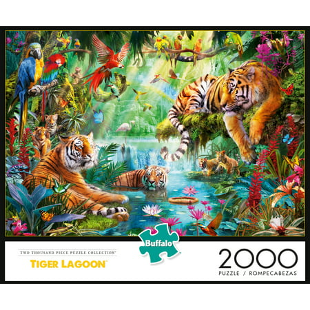 Buffalo Games - Tiger Lagoon - 2000 Piece Jigsaw Puzzle ()