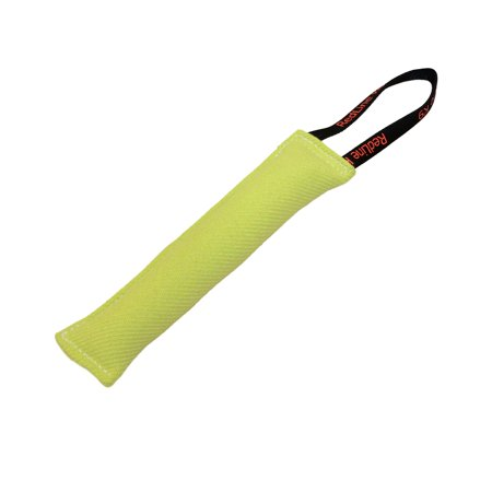 Lime Green Bite Suit Tug Toy (3 inch X 10 inch) 1 Handle - Redline K9 - Lime Green Zoot Suit
