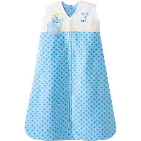 HALO SleepSack Wearable Blanket, Microfleece, Blue Geo Bear, (Sleepsack Fleece)