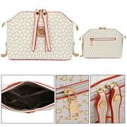 b3e198863e Coofit 4Pcs Purses and Handbags Faux Leather Clutch Shoulder Bags Wallets  for Women Image 7 of