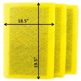 RayAir Supply 20x20 MicroPower Guard Air Cleaner Replacement  Filter Pads (3 Pack) ()