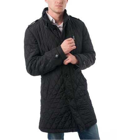 Big Men's Black Polyester Quilted Car Coat - Walmart.com