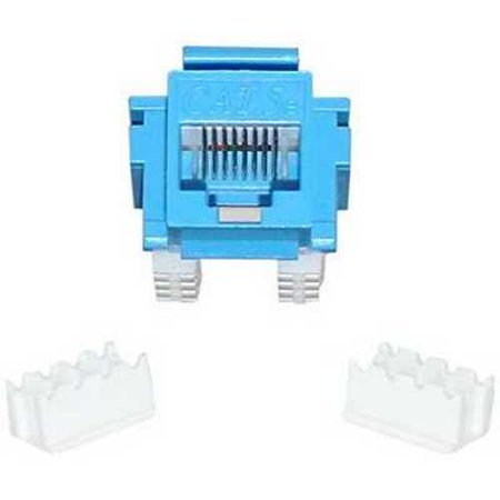Offex OF-310-120BL Cat5e Keystone Jack, Blue, RJ45 Female to 110 Punch Down