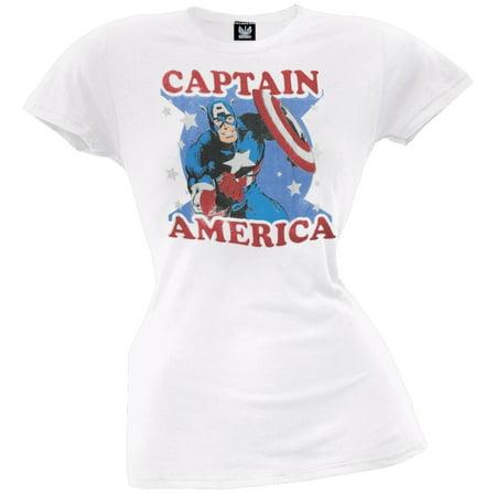 Captain America - Stars Juniors T-Shirt